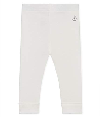 Petit Bateau Baby - Mädchen Leggings 4852001, Weiß (Marshmallow 01), 86 (Herstellergröße: 18M/81cm) Baumwolle Baby-leggings