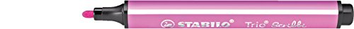 STABILO Trio Scribbi Einzelstift rosa - gefederter Dreikant- Fasermaler