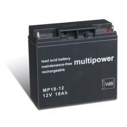 Multipower Bleiakku MP18-12 12V 18AH Blei-Gel Akku Pack