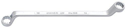 Unior 600526 Clé polygonale coudée, Profondeur, Double 20 x 22 mm, 1 pièce, 180/1
