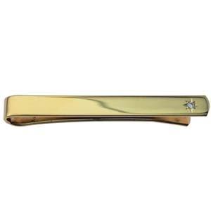 British Jewellery Workshops Plaqué Or Dur 6x55mm Ensemble Etoiles CZ Tie diaporama