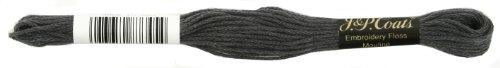Manteaux Crochet 6-Strand Fil à Broder, foncé en étain Gris, 24-Pack
