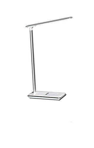 ninetech-lamp100-plastic-usb-port-led-lamp-with-induction-charger-by-288-w-integrated-grey