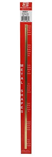 K&S-Metall 969861 Messingstab, 300mm lang, 1,0mm Durchmesser 5stück