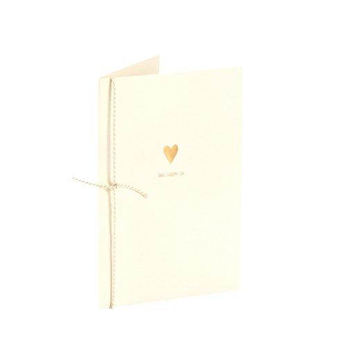 """Rössler Papier - Serie Pure Love, Brilliant - Doppelkarten \""""Wir sagen ja. und Herz\"""" - B6hd/B6, 1 Blisterpackung mit 4 Karten"""