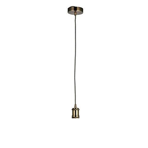 Endon - 1 Licht Indoor-h�ngende antike Messingplatte 76585
