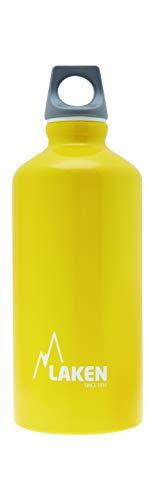 Laken Unisex - Adulto Alluminio Giallo, BPA Borraccia in Alluminio Futura 0,6 Litri, PBA Free
