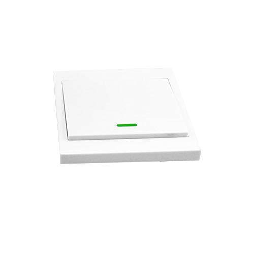 OWSOO Taster Schalter Wandleuchte Fernbedienung 1 Gang 86 Typ EIN/Aus Schalter Panel 433 MHz Wireless RF Fernbedienung Sender mit Aufklebern Freie Position Flexible Für Home Wohnzimmer Schlafzimmer -