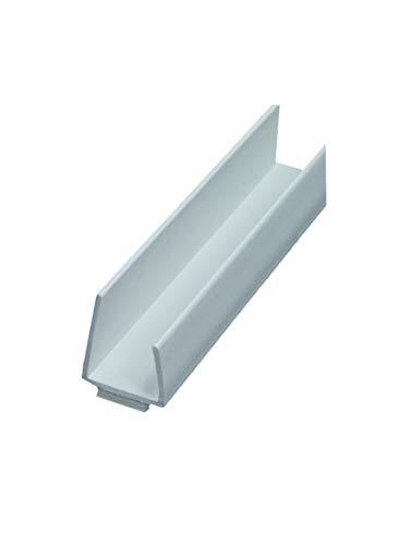 50 x PVC Einfassprofil ungleichschenklich mit Schattenfuge 250 cm = 125 lfdm GKP Gipskartonplatte Trockenbauprofil Kantenprofil Einfaßprofil 12,5mm Schattenfuge