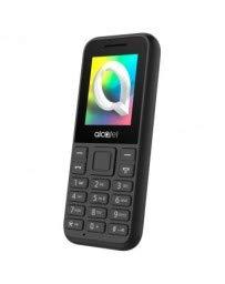 Alcatel 1066D - Telefono móvil de fácil uso, Pantalla de 1.8' QQVGA, 2G, cámara trasera CIF, 4MB de RAM, 4MB de ROM, batería 400mAh (Negro)