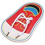 TOOGOO ninos usan cordones de los cordones de los ninos juguetes educativos educativos juguetes de madera