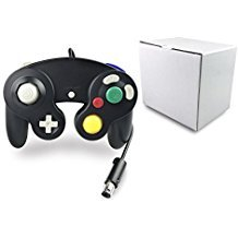 Poulep 1 Pack Classic Wired Gamepad Controller für Wii Game Cube Gamecube Konsole (schwarz)