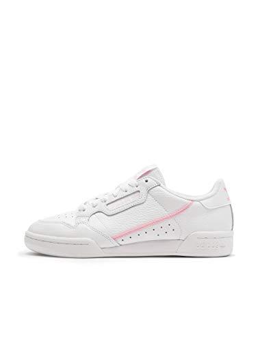 adidas Damen Continental 80 W Fitnessschuhe Mehrfarbig (Ftwbla/Rosaut/Ros Cl A 000) 38 2/3 EU