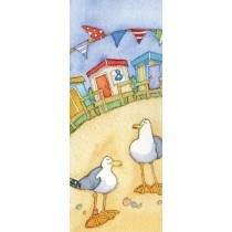 Emma Ball Magnetisches Lesezeichen Set–Cute sortiert Strandhütten Meer Möwe Urlaub Coastal