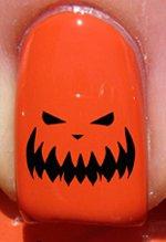Halloween Visage citrouille - Stickers pour ongles YRNAILS