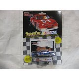 NASCAR #94 Terry Labonte Sunoco Racing Team Stock Car With Driver's Collectors Card And Display Stand. Racing Champions Black Background Red Series 51 Car by Racing Champions