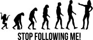 Mister Merchandise Cooles Fun T-Shirt Stop Following Me! Evolution Gelb
