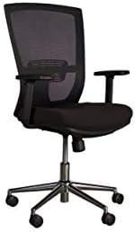 Mahmayi Metal Kim 0166M04 Mesh Low Back Chair, CX0166LBBL, Black, H112 x W53 x D51 cm