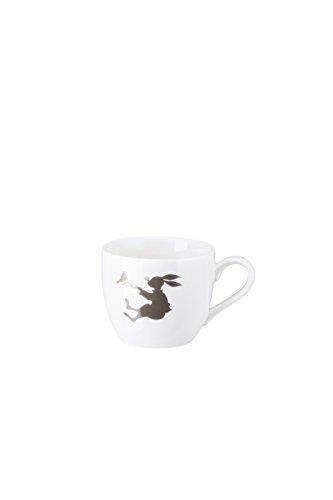Espresso Frühling (Hutschenreuther Hase 0, 07 l Espresso-Obertasse, Porzellan, Weiß 11 x 11 x 7 cm)