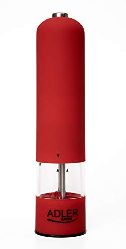 Adler AD 4437 - Pimentero, Cerámico, Color rojo
