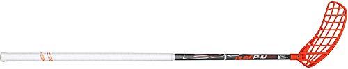 EXEL Floorball Schläger/Unihockey Stock Pure P40, Grey/White/ORANGE, mit IFF Zertifizierung (für Rechtshänder, Rechte Hand Oben am Schläger, sogenannter Linksausleger, Schaftlänge 75 cm)