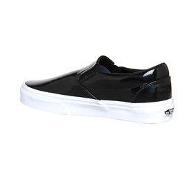 Vans U Classic Slip-on, Baskets mode mixte adulte Patent Leather Black