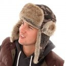 Mens Tracker Air Aviator Bomber Trapper Russian Army Fake Fur Ear