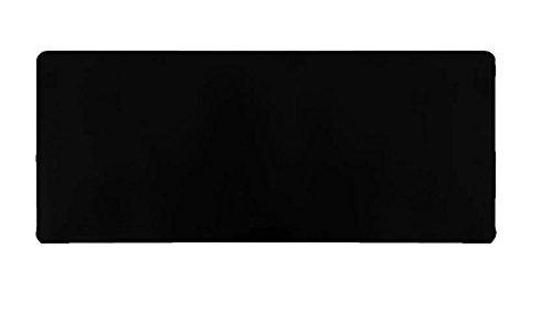 Woodlandu Gro?e Gaming Mouse Pad gen?hte Kanten Geschwindigkeit Seidig glatte Oberfl?che rutschfeste Gummiunterseite Mats 300x700x3mm / 11.8x27.56x0.12 Zoll schwarze R?nder