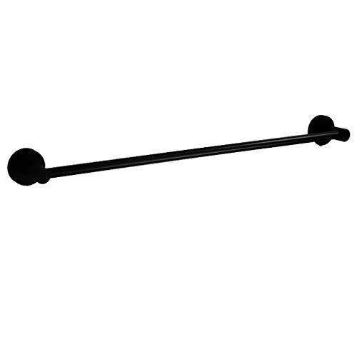 QIANDING HUJIA Europäischen Schwarzen Handtuchhalter Einzigen Stab Edelstahl Handtuchhalter Bad Handtuch Anhänger Multi-Size-Rack Badezimmer Regal (Size : 100cm) -