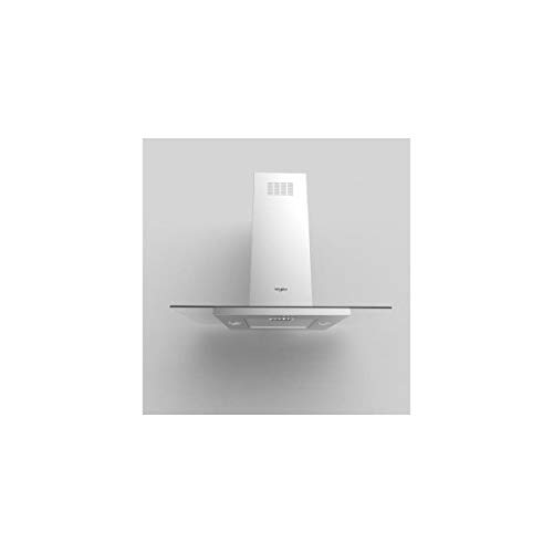 WHIRLPOOL - WHIRLPOOL ENC (NPU) Hotte, Déco 100cm, Ilot, INOX+Verre Plat, Aspiration Min/Max/B 105/432/713 m3/h, Niveau sonore Min/Max/B 35/6