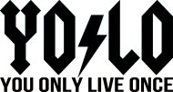 Mister Merchandise Cooles Fun T-Shirt YOLO Rock You Only Live Once Gelb