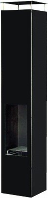 Original Terrassenfeuer / Garten-Feuerstelle: Amayo 150 Black, Kamin 153cm, versandkostenfrei**