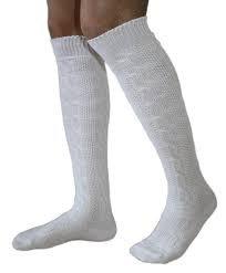 LANGE Trachtensocken Trachten Strümpfe für lederhosen Socken Natur, Größe:44-46 - 3