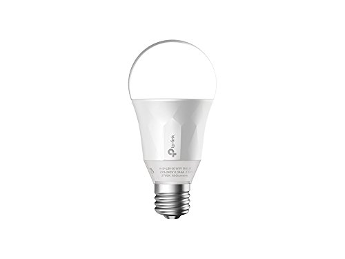 TP-Link LB100 Smart LED Wi-Fi Light Bulb, Dimmable White, E27, 7 W (Works with Alexa, B22 Bayonet Adapter Included, No Hub Required)