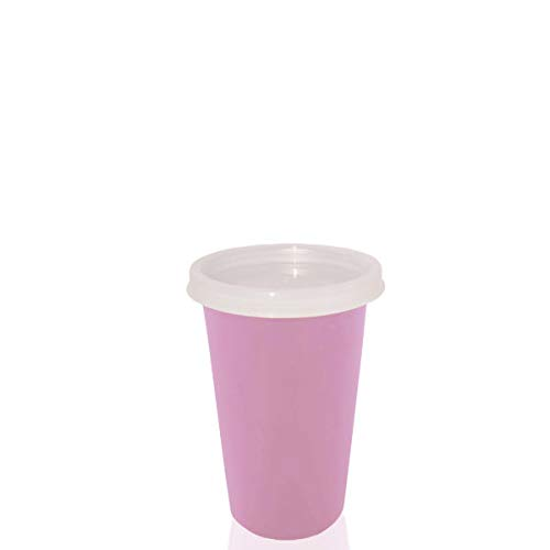 SARANGWARE Stainless Steel Air Tight Glass with Lid & Straw with Extra Travel Lid for Kids, 300ml, Pink