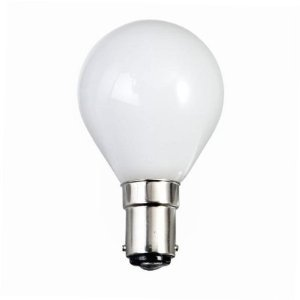 10 x G45 60 WATT SMALL BAYONET B15 CAP OPAL (WHITE) FINISH GOLF BALL LIGHT ROUND BULBS 2,000 HOUR DOUBLE LIFE (Golf-artwork)