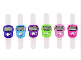 High Quality Tally Counting Machine Finger Watch Digital Tally Counter, Pack of 6