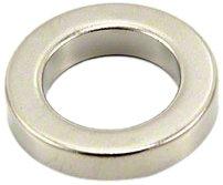 Magnet Expert® 25mm O.D. x 16mm I.D. x 5mm N42 néodyme aimant, 9,4kg force d'adhérence, pack de 1