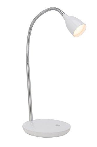 Brilliant - Lampada a LED da tavolo modello Anthony, colore: bianco/ferro