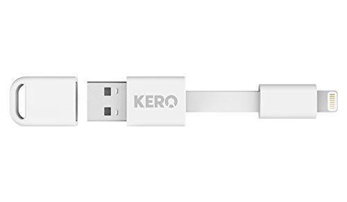 Kero Nomad Apple Lightning to USB Key Ring Cable - White