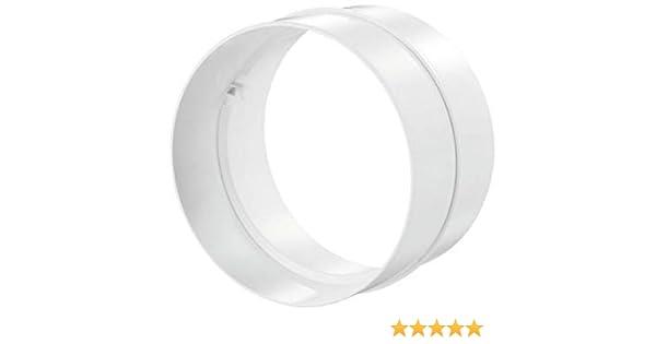 Forme/: ronde Blauberg UK Joint de connexion pour tuyaux d/évacuation Couleur/: blanc Diam/ètre/: 102 mm