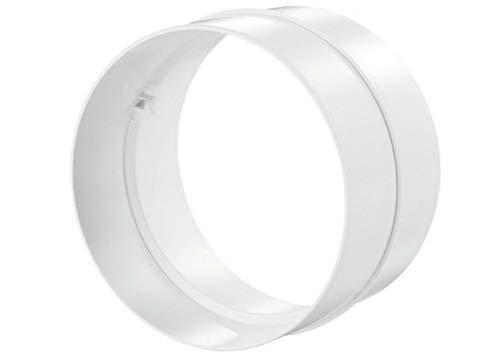 Blauberg UK runder Kanal-Entlüftungsschlauch-Rohrverbinder, Fugendurchmesser, Weiß, 102 mm - Rv-waschmaschine, Trockner