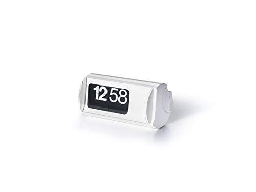Orologio da tavolo a palette alimentato a batteria - Solari Udine Cifra 3 Colore Bianco - Nuovo scatola e garanzia ufficiale - Prodotto di altissima qualità made in italy
