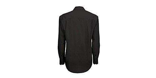 Hemd - Smart für Männer, langarm Schwarz