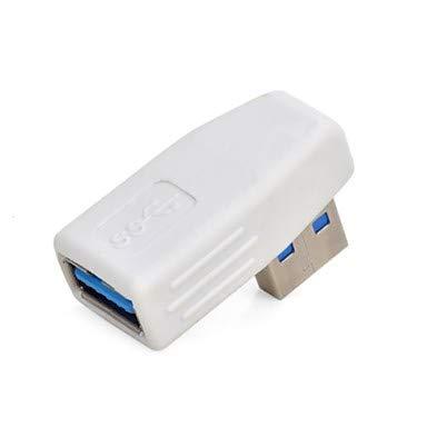 Kabel und Adapter Rechten Winkel USB 3.0 männlich zu weiblich Adapter - Weiss Dvi Rechten Winkel-adapter