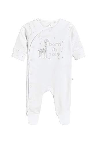 next next Baby - Jungen Born In 2019 Schlafanzug Weiß Bis 1 Monat