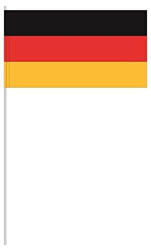Twist4 Premium Papierfahne Papierfähnchen Deutschland Deko Fußball Party Soccer Flaggen Papierfahnen mit Stab (25)