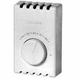 HoneyWell T410B1004 1 Heat Electric Thermostat 40 to 80 deg F 120/208/240/277 Volt AC White -