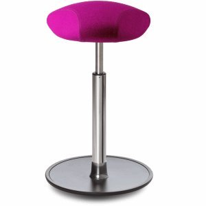 Ongo Sitz- und Stehhocker Free 58-82cm Triangle-Sitz Kvadrat divina pink/schwarz/chrom