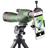 Gosky 15-45X60 Spotting Scope - Waterproof Scope for Target Shooting Bird Watching Animal